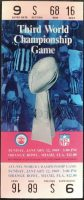 1969 Super Bowl III ticket stub Yellow Variation Jets vs Colts
