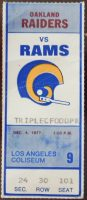 1977 Los Angeles Rams ticket stub vs Raiders