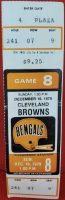 1979 Cincinnati Bengals ticket stub vs Browns