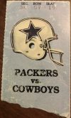 1989 Green Bay Packers ticket stub vs Cowboys