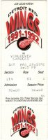 1992 Detroit Red Wings ticket stub vs Canucks