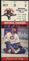 1995 Florida Panthers ticket stub vs Canadiens