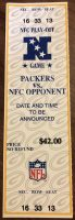 1994 NFL Playoffs Packers ticket stub vs Lions