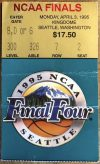 1995 NCAAMB Final Ticket Stub UCLA vs Arkansas