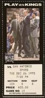 1995 Sacramento Kings vs Spurs ticket stub