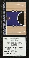 1996 Sacramento Kings ticket stub vs Bullets