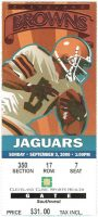 2000 Cleveland Browns ticket stub vs Jaguars