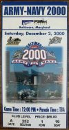 2000 NCAAF Army vs Navy ticket stub
