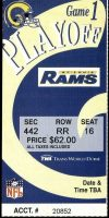 2000 NFL Playoffs St. Louis Rams ticket stub vs Vikings