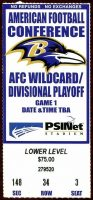 2000 AFC Wild Card Game ticket stub Ravens vs Broncos