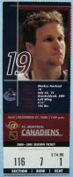 2000 Vancouver Canucks ticket stub vs Montreal