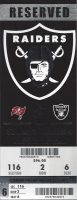 2012 Oakland Raiders ticket stub vs Buccaneers