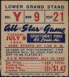 1940 All Star Game Sportsman's Park ticket stub