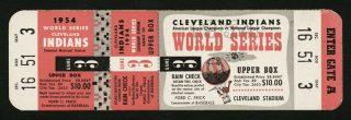 1954 World Series Game 3 ticket stub