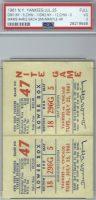 1961 Roger Maris 4 Home Run ticket stub