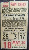 1961 Roger Maris 2 Home Run Baseball Ticket Stub