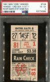 1961 Roger Maris Home Run 61 ticket stub