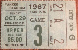 1967 New York Giants ticket stub vs Cleveland Browns