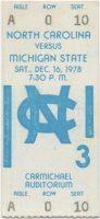 1978 NCAAMB North Carolina ticket stub vs Michigan State