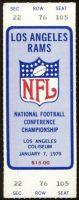 1979 NFC Championship Game ticket stub Cowboys Rams