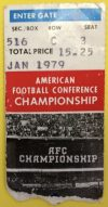 1979 AFC Championship Game ticket stub Oilers Steelers
