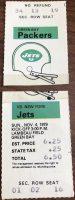 1979 Green Bay Packers ticket stub vs Jets