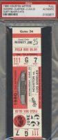 1980 Astros ticket stub vs Dodgers Dusty Baker 5 Hits