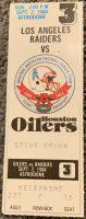 1984 Warren Moon NFL debut ticket stub
