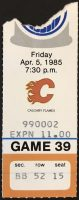 1985 Edmonton Oilers ticket stub vs Flames