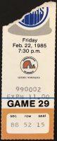 1985 Edmonton Oilers ticket stub vs Nordiques