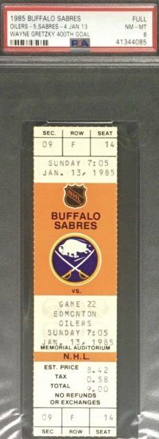 1985 Wayne Gretzky 400th Goal Ticket