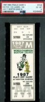 1987 NBA Finals Game 5 ticket stub Boston Lakers Celtics