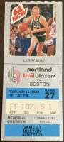 1988 Larry Bird 40 Points Ticket Stub