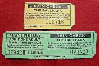 1988 MiLB Maine Phillies ticket stub
