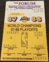 1988 NBA Finals Game 2 ticket stub Lakers vs Pistons