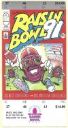 1991 California Raisin Bowl ticket Fresno State vs Bowling Green