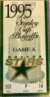 1995 Stanley Cup Final Game 3 ticket stub