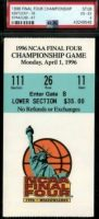 1996 Final Four Championship ticket stub Kentucky Syracuse