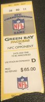 1997 NFC Championship Game ticket stub Panthers Packers