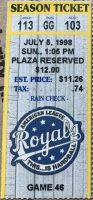 1998 Jim Thome Home Run ticket stub