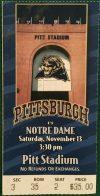 1999 Pitt Stadium Final Game Ticket stub