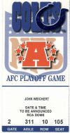 2000 AFC Divisional Game ticket stub Titans vs Colts