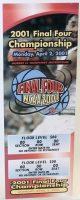 2001 NCAA Basketball Championship ticket Duke vs Arizona
