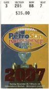 2007 Independence Bowl ticket stub Colorado vs Alabama