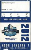 2012 BBVA Compass Bowl ticket stub SMU vs Pitt