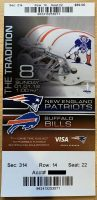 2012 New England Patriots ticket stub vs Buffalo
