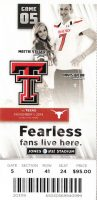 2014 NCAAF Texas Tech ticket stub vs Texas