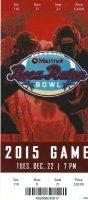 2015 Boca Raton Bowl Ticket Stub Toledo Rockets vs Temple Owls