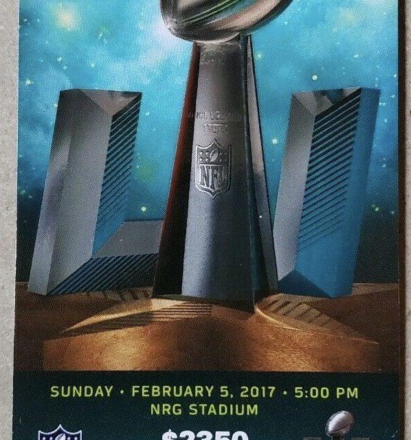 2017 Super Bowl ticket stub Patriots Falcons