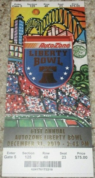 2019 Liberty Bowl Ticket Stub Navy vs Kansas State